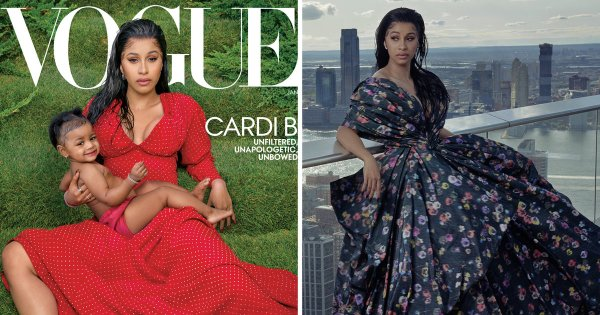 Cardi B And Baby Kulture Cover Vogue Magazine (photos)