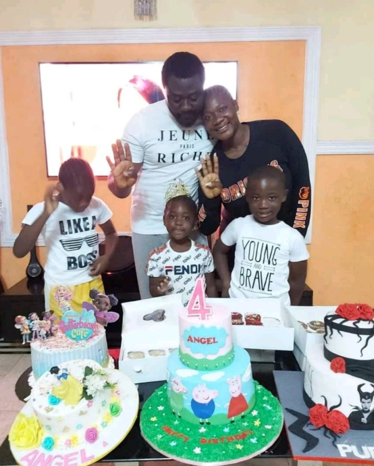 Mercy and husband celebrate their daughter who turned four today