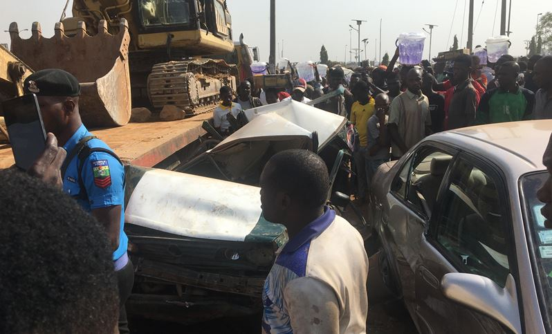 Taxi crash in Abuja