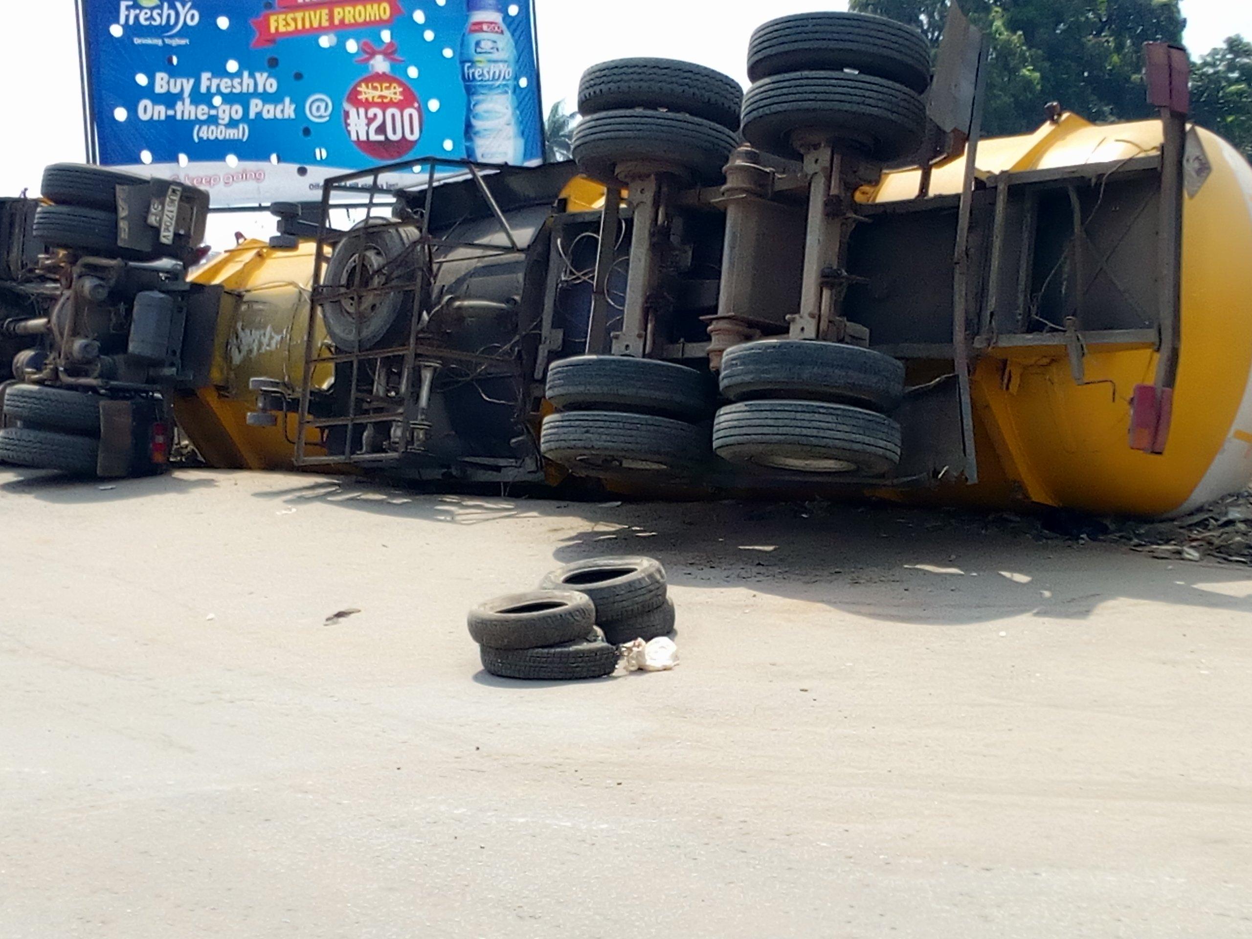 petrol tanker kills road sweeper