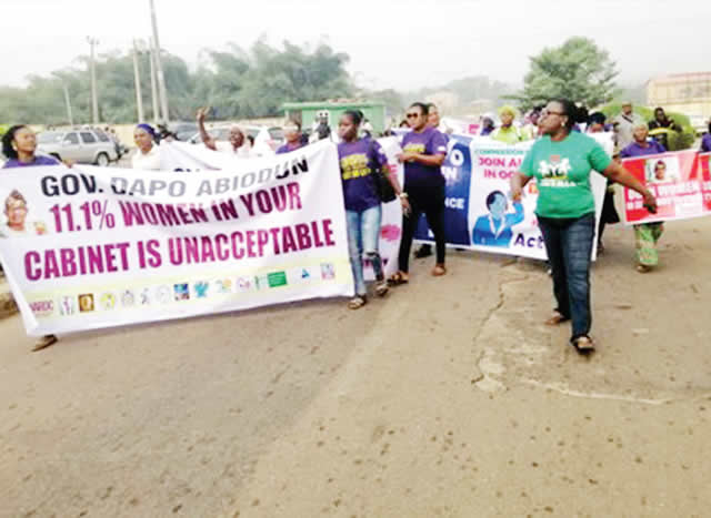 Women storm Dapo Abiodun's office