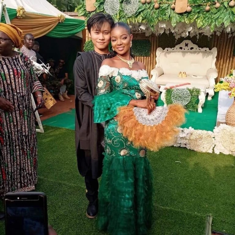 Ngozi got married to her heartrob, Mr. Long Ting