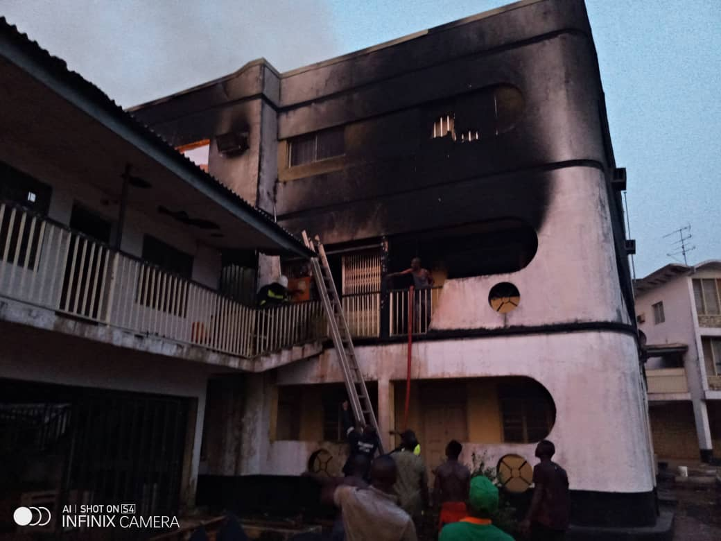 Anambra building on fire