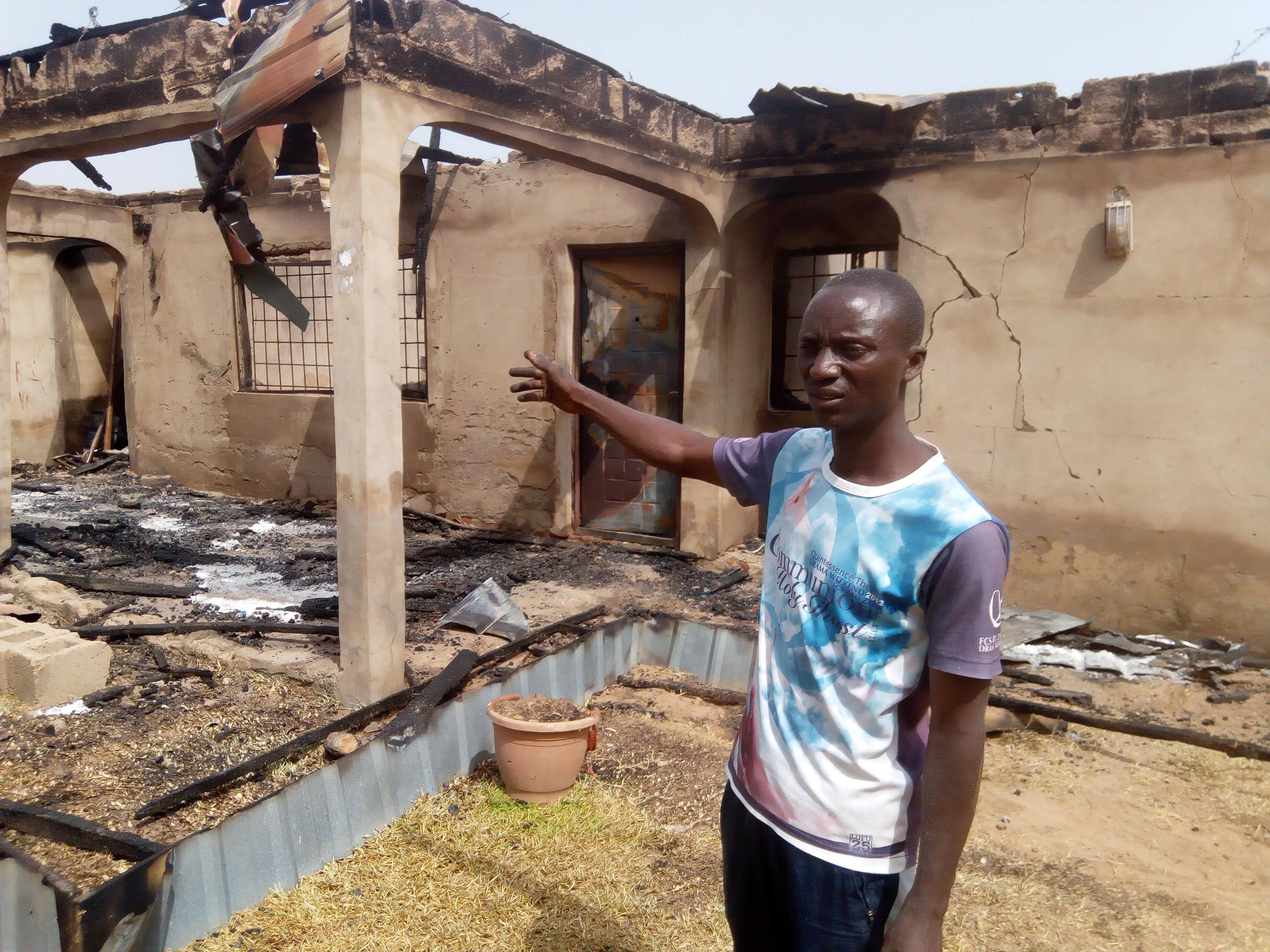 fire in heritage villa
