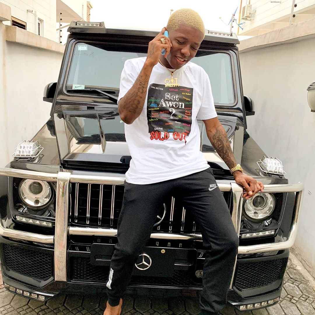 Small Doctor shows off his G-wagon