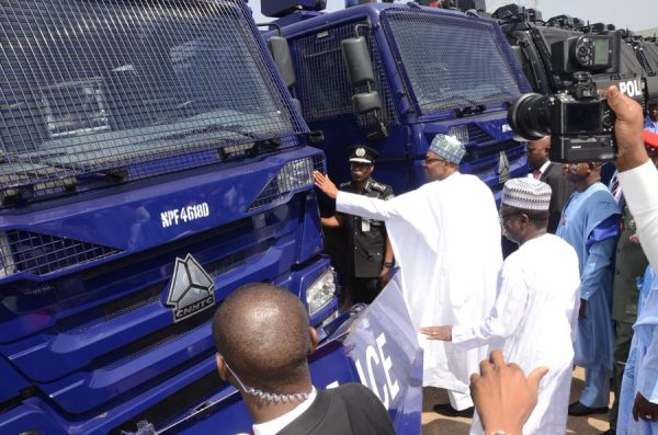 President Muhammadu Buhari commissions 139 Hilux Patrol Vehicles including 46 Police Smart Surveillance (CCTV Camera-on-the Move) Vehicles.