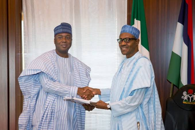 Bukola Saraki and Muhammadu Buhari