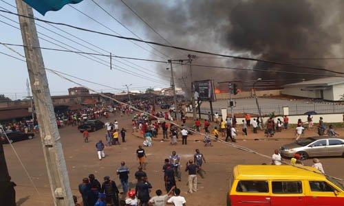 Ekiosa market on fire