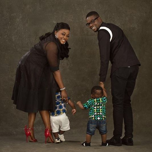Funke Akindele and husband, JJCSkillz celebrate their twin boys