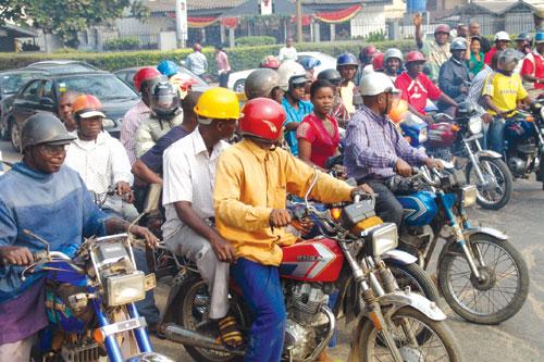File photo: Okada riders