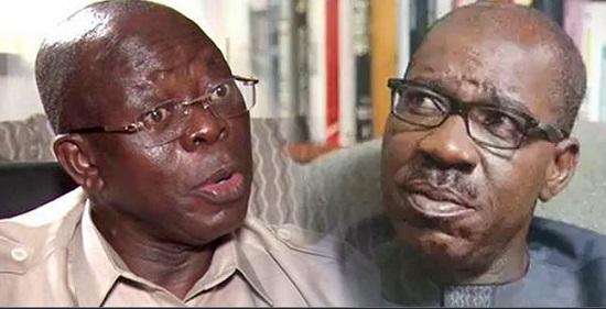 Comrade Adams Oshiomhole and Godwin Obaseki