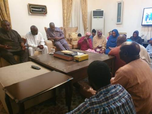 Dasuki reunites with family