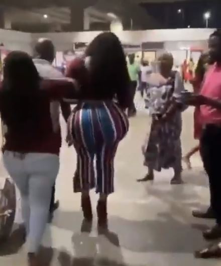 African lady's bum
