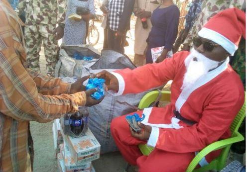 Santa Claus in the north