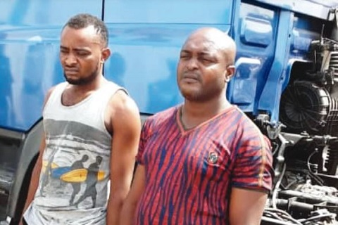 Suspects, Charles Obllomo and Osita Onyeka
