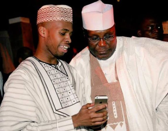 Atiku Abubakar and his son, Mustapha Abubakar