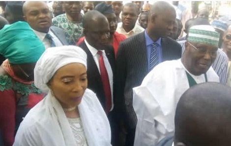 #NigeriaDecides: Atiku And Wife, Titi Vote In Adamawa