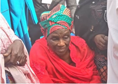 See President Buhari's 84-year-old Sister Who Voted In Daura (Photo)