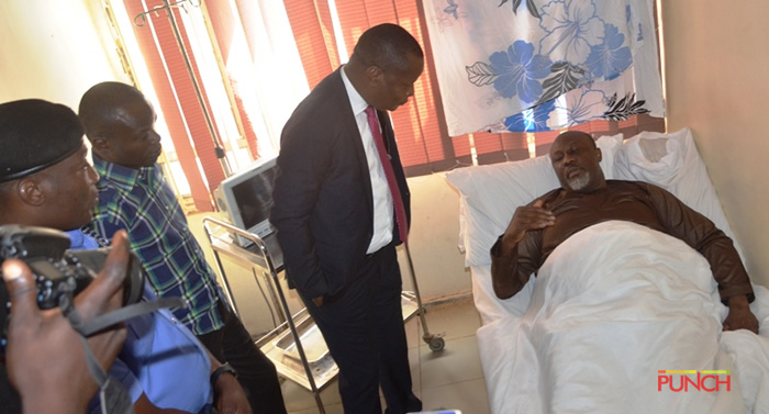 Senator Dino Melaye Pictured In Hospital, Claims Unfit To Attend Court