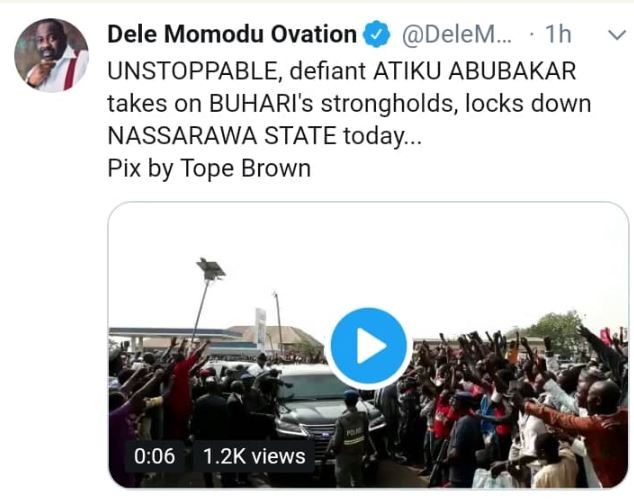 , Atiku Pulls Huge Crowd In Buhari's 'Stronghold' (Photos), No. 1 Information Arena