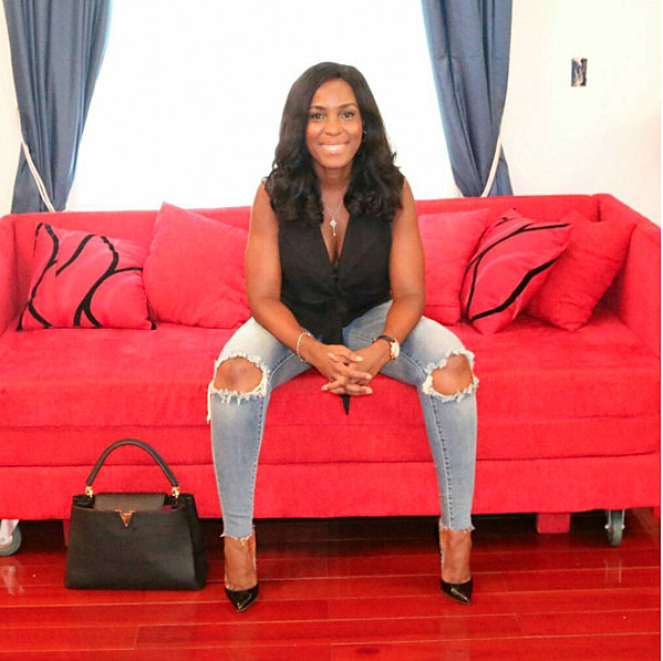Linda Ikeji Shows Off Massive Collection Of Designer Bags In Her Closet (Photo)