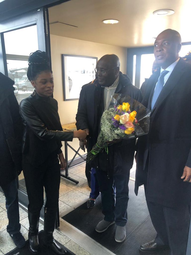 After 12 Years, Atiku Finally Lands In US (Photos)