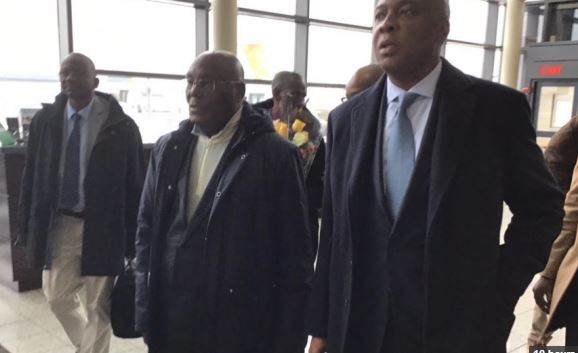 Watch The Moment Atiku Landed In America For The First Time After 12 Years