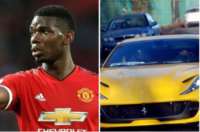 Paul Pogba Buys 250,000 Pounds Ferrari To Celebrate Child's Birth