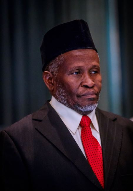 Photos Of President Buhari Swearing-in The New CJN, Muhammed Tanko Today