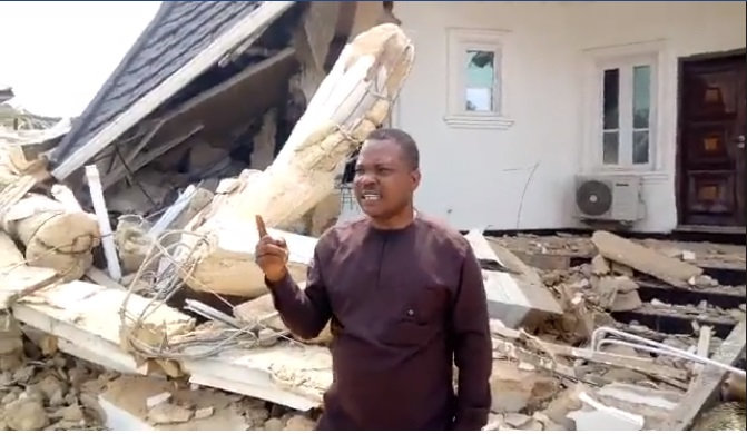 Politician Cries Out After His Mansion Was Demolished Few Weeks To Election