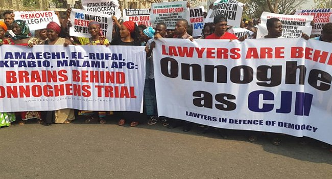 Lawyers Protest Over Onnoghen's Suspension