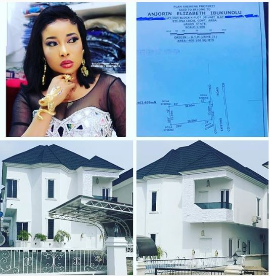 Nollywood Actress Liz Anjorin Acquires New House