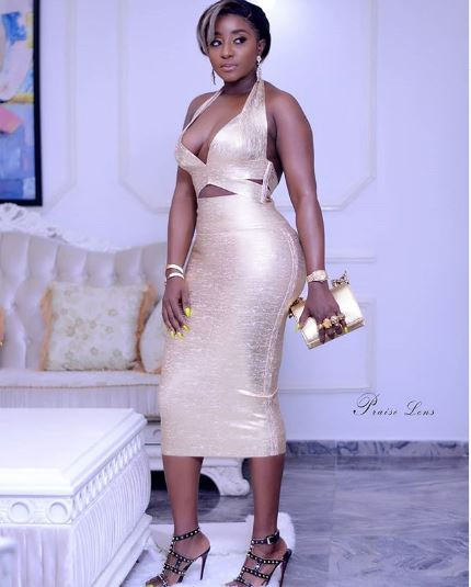 Check Out The Sexy Dress Star Actress, Ini Edo Rocked To Rita Dominic's 44th Birthday Party