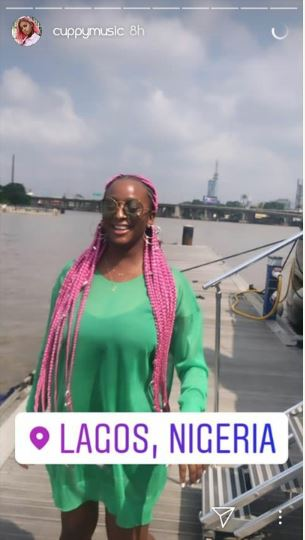 DJ Cuppy Takes Anthony Joshua On A Date In Lagos (Photos)