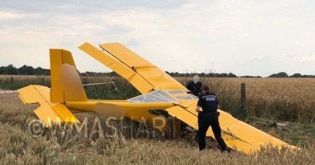 Plane Crashes Shortly After Take-Off (Photos)