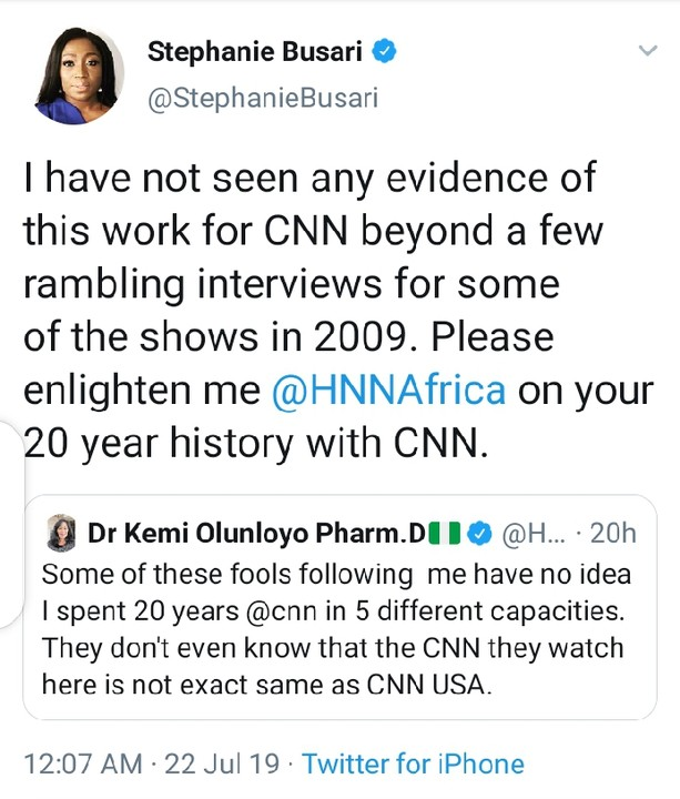 CNN Staff Confronts Kemi Olunloyo After She Claimed She Worked With The Company For 20 Years
