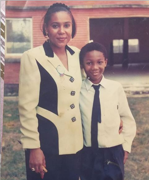 See Throwback Photo Of Nollywood Actress, Shan George And Her Son