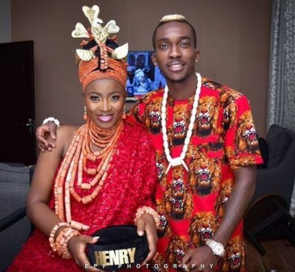 First Photo From Wedding Of Super Eagles Star, Henry Onyekuru Happening In Benin City_1