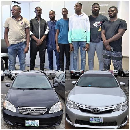 EFCC Smokes Out 7 Internet Fraudsters From Their Abuja Hideout
