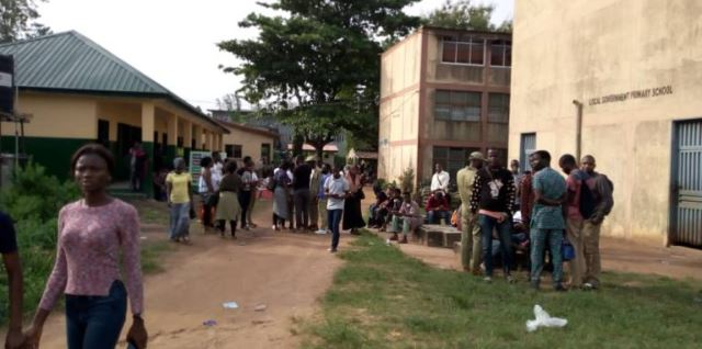 INEC Ad-hoc Staff Protest Mars Election In 25 Lagos Wards