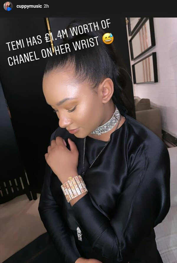 Billionaire Daughter, Temi Otedola Wears N671m Chanel Bracelet To A Party In London (Photos)