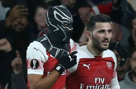 Aubameyang Celebrates With Black Panther Mask In Arsenal Win