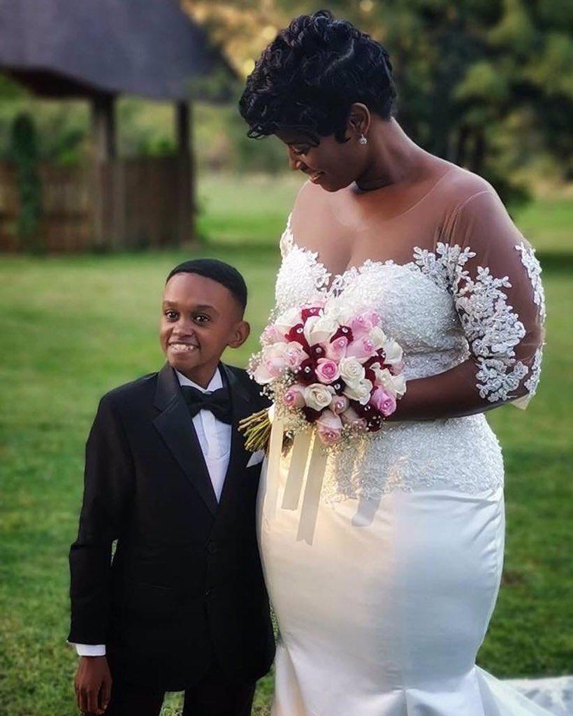 Celebrity Wedding Login: Short South African Actor Weds Beautiful Wife In Lavish