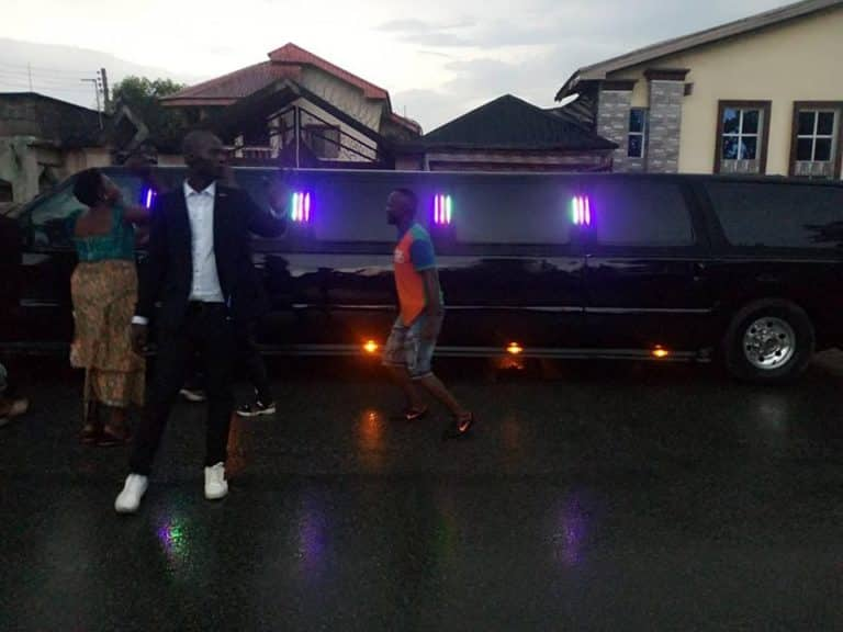 Pastor Buys His Third Hummer Limousine, Shows It Off In Aba (Video)