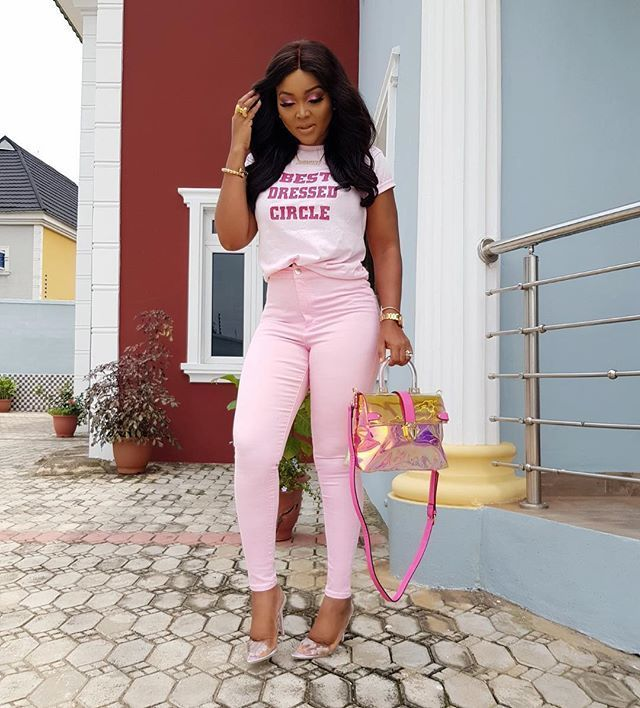 Mercy Aigbe Slays In Pink Dress (Photos)