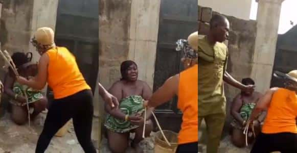 Wife beating husband video