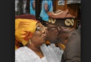 Bola Tinubu and his mother