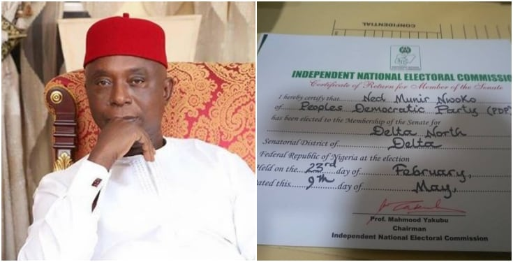 Regina Daniel's Husband, Ned Nwoko Receives Certificate Of Return As Senator