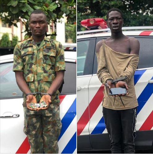 Fake Soldier And Armed Robber Nabbed In Lagos State (Photo)