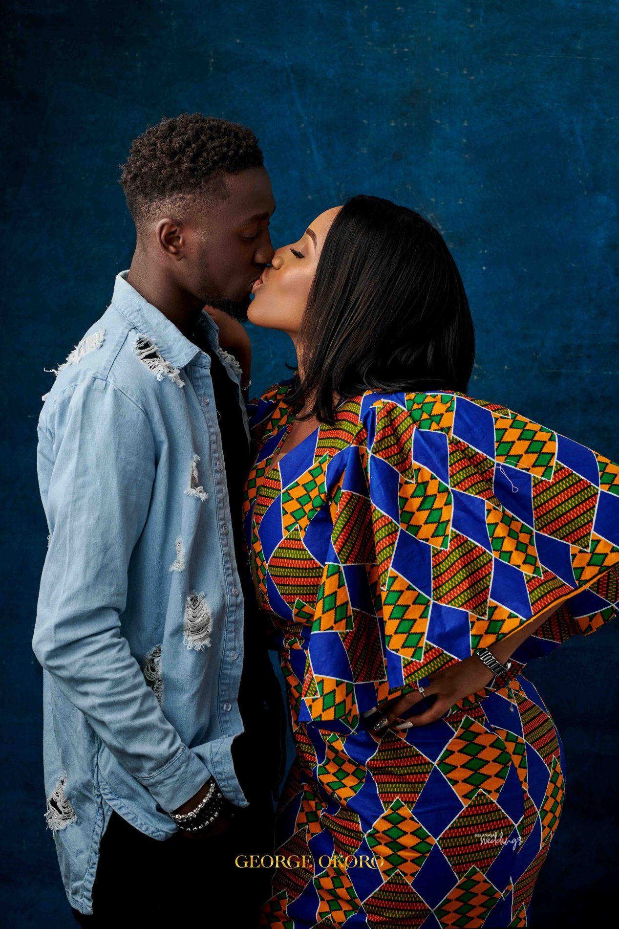 Pre-wedding Photos Of Super Eagles Star, Wilfred Ndidi And His Lover, Dinma